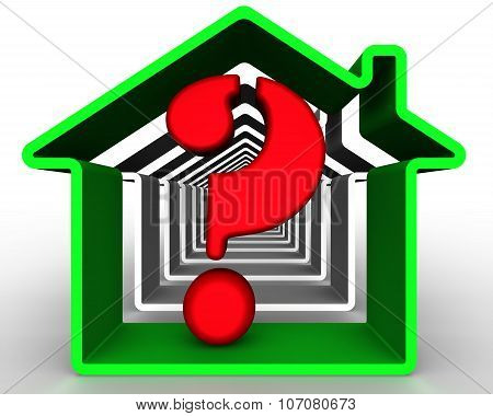 The problem of choice real estate. Concept