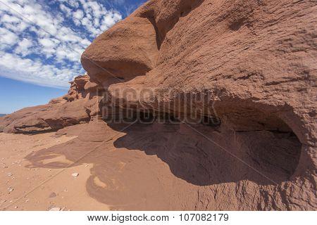 eroding sandstone, Prince Edward Island