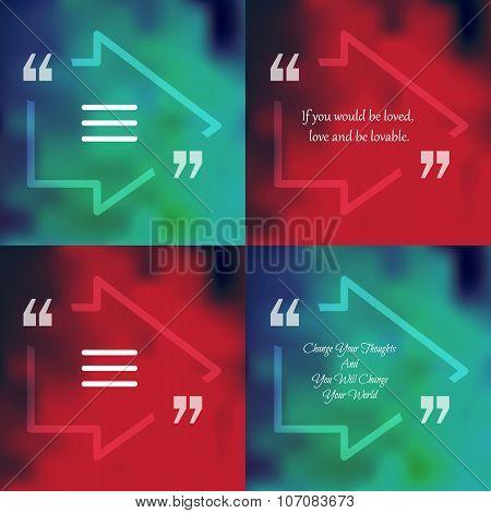 Square Quote Text Bubble