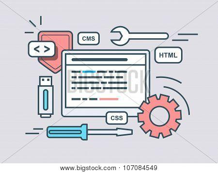 Web programming script