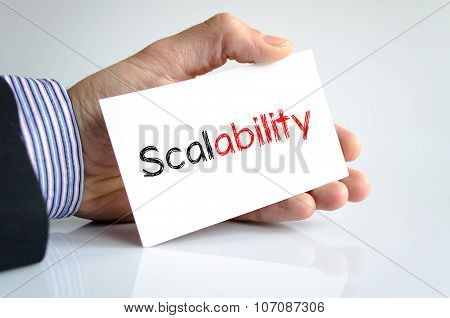 Scalability Text Concept