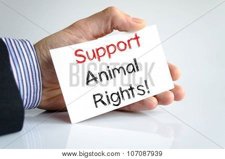 Support Animal Rights Text Concept