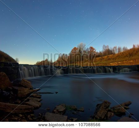 Waterfall Tosno, Leningrad region, Russia