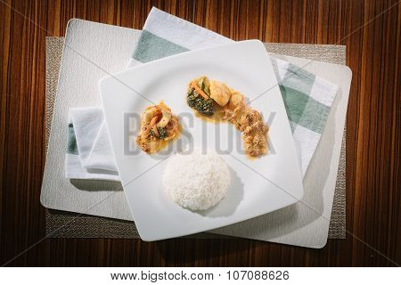 Stir Fried Seafood with Roasted Chili Paste