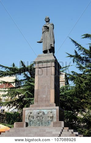 Monument dedicated to famous georgian poet Shota Rustaveli in Tbilisi,Georgia