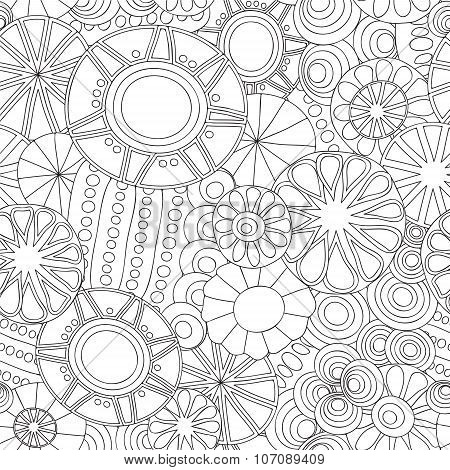 Stock Vector Seamless Floral  Doodle Pattern.