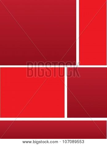 Corporate Red Brochure Background