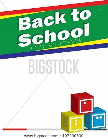 Back to school braille letterhead