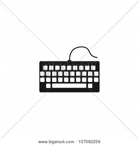 Keyboard Icon. Flat Design Style.