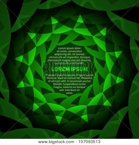Abstract Green Circular Text Layout