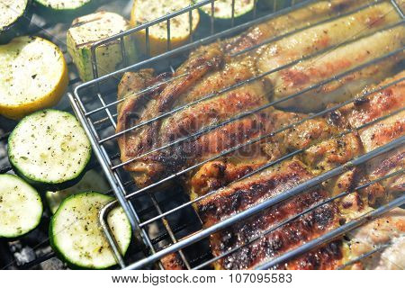 Meat Slices And Zucchini