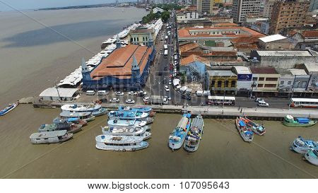 BELEM DO PARA, BRAZIL - CIRCA NOVEMBER 2015: Aerial view of Belem do Para in Brazil