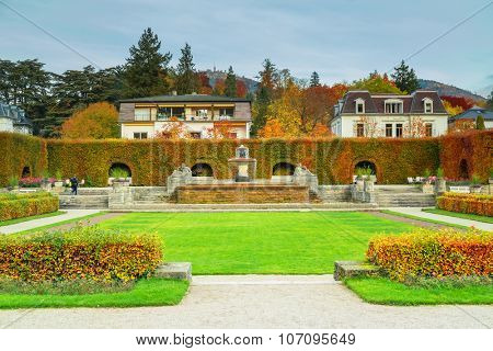 Rose Park in the fall. Baden Baden. Germany.