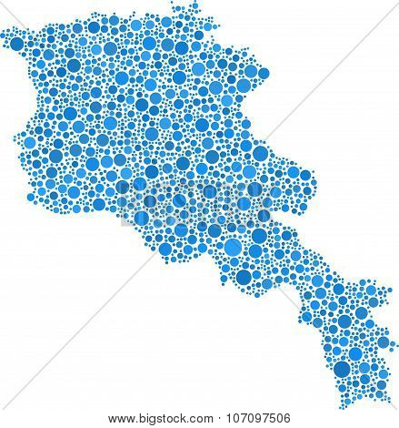 Isolated map of Armenia