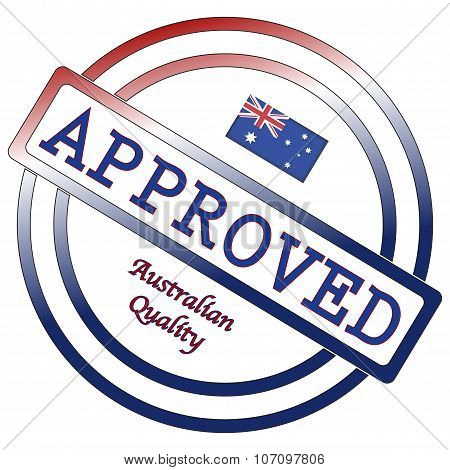 Australian Quality Approved Stamp