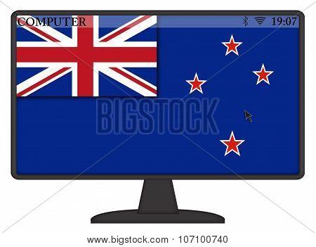 New Zealand Computer Flag