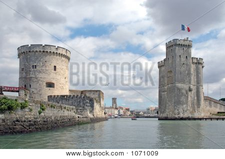 The Old Port Of La Rochelle (France) Seen From The Ocean