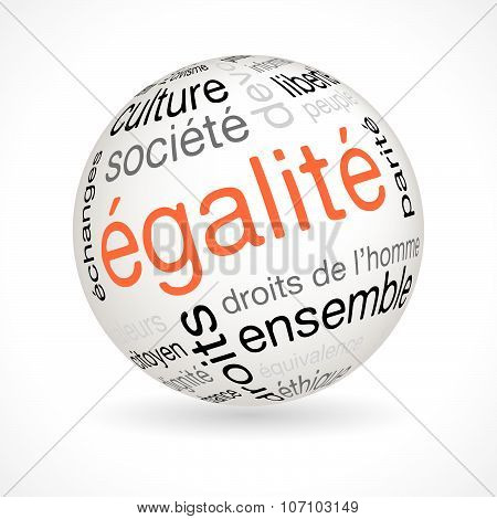 French Equality Theme Sphere With Keywords