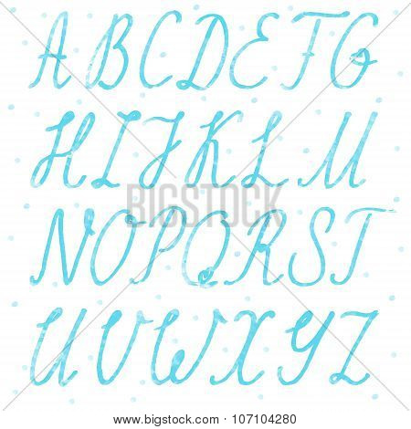 Handdrawn Alphabet, Capital Letters