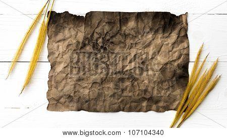 Old Brown Paper And Wheat