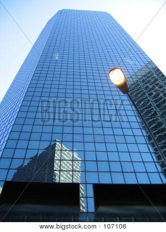 Modern Office Building Against Blue Sky.