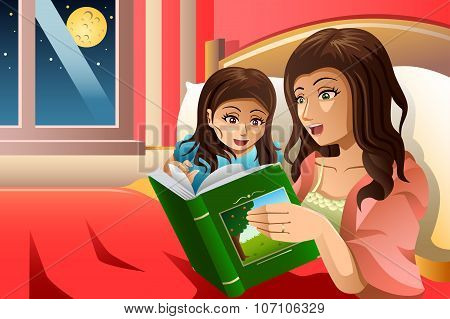 Mother Telling A Bedtime Story