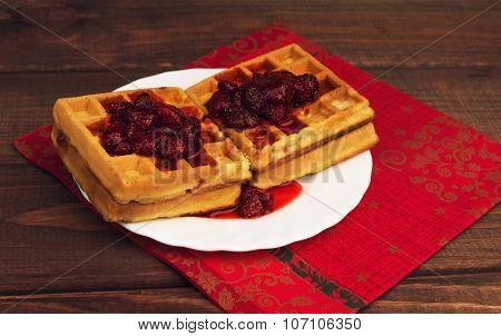 Soft Homemade WafflesM