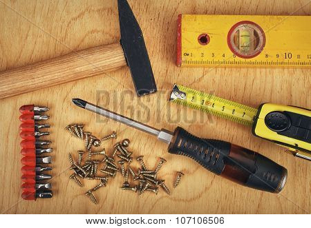 Set of manual Working tools