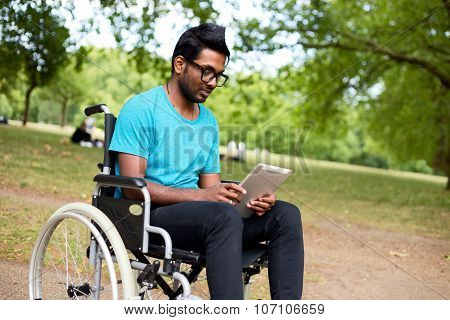 wheelchair and tablet