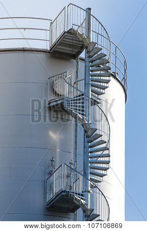 Industrial Spiral Stair Circular