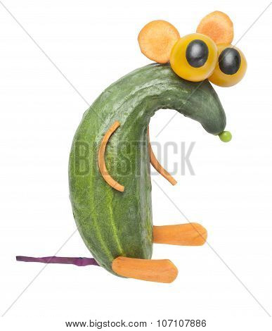 Funny Rat Made Of Cucumber
