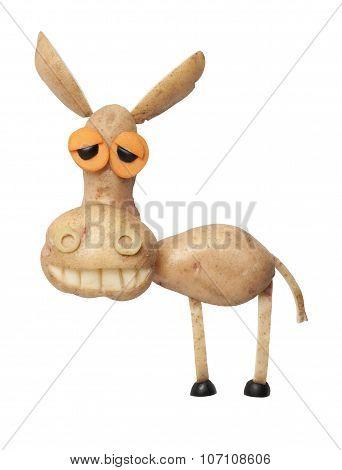 Donkey Made Of Potatoes