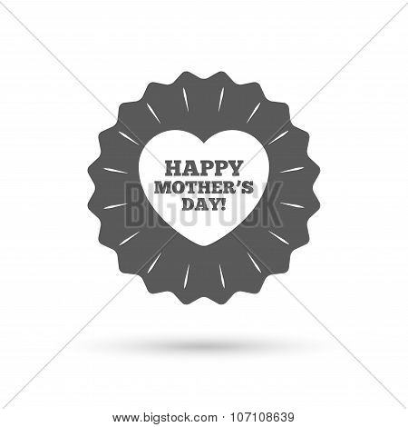 Happy Mothers's Day sign icon. Mom symbol.