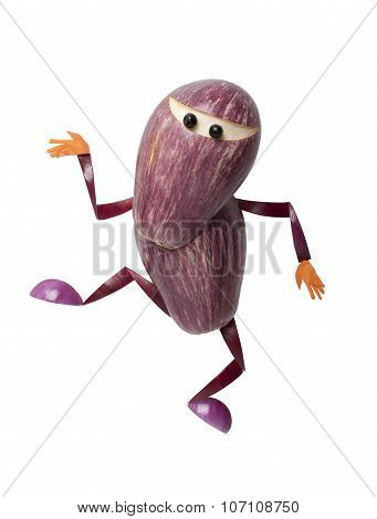 Ninja Made Of Eggplant
