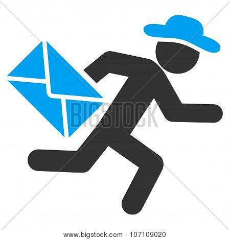 Guy Mail Courier Icon