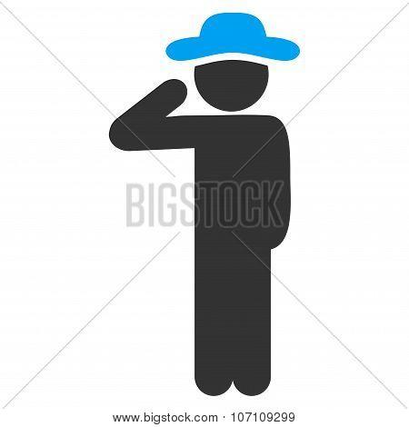 Male Salute Icon