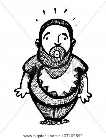 Fat Shy Man