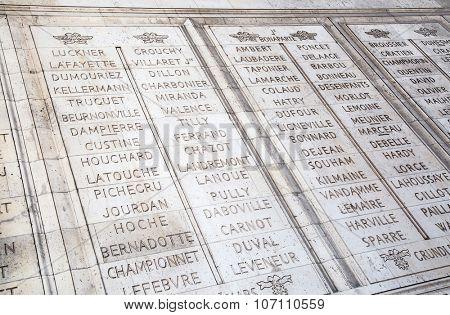 Famous Arc de Triomphe, Paris, France