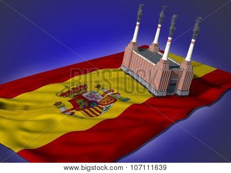 national heavy industry concept - Spanish theme
