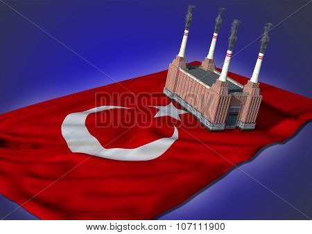 national heavy industry concept - Turkish theme