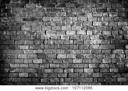 Brick Wall Plain Blank Abstract Aged Structure Textured Concept