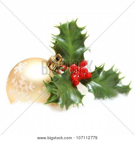 Christmas Decor And Holly