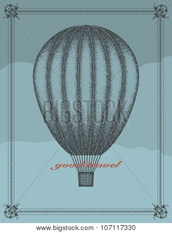 Good travel. Vector illustration in grunge style.