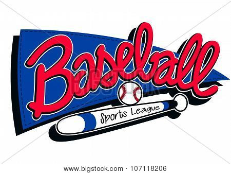 Baseball Sports League Childrens Banner Background