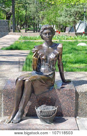 Sculpture Is Flower-girl