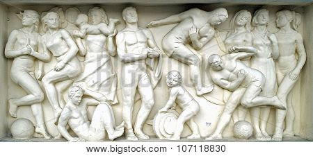 The Bas-relief On The Building Of The Railway Station Rostov-on-don