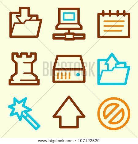 Data web icons