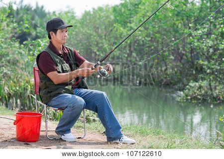 Fishing In The Countryside