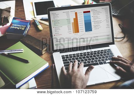 Working Finance Statistical Data Analyse concept
