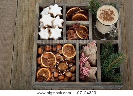 Christmas Cookies, Nuts And Spices
